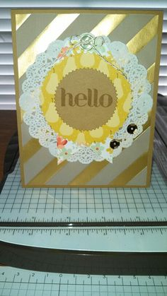 This is a card I made using the Mini Memories Simply Created Album Kit, Starburst Framelits, and a stamp from the Four You stamp set!