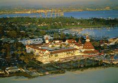 Hotel del Coronado -   Coronado Island, CA; spent a few holiday seasons visiting the magnificent tree.