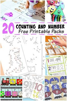 Free Number and Counting Printables for Kids