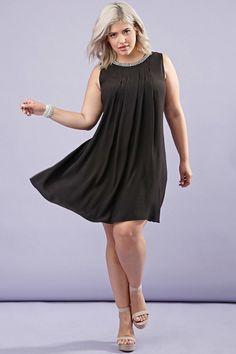 FOREVER 21+ Plus Size Rhinestone Sheath Dress