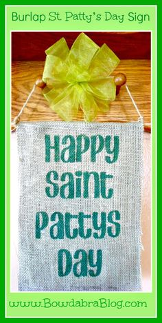 Burlap St. Patty's Day Sign Tutorial
