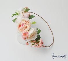 Peony Flower Crown, Boho Flower Crown, Wedding Crown, Wedding Flower Crown, Wedding Headpiece, Floral Crown, Floral Headpiece, Silk Flowers by blueorchidcreations on Etsy