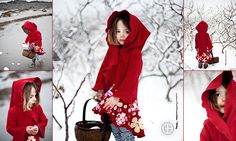 Modern little red riding hood