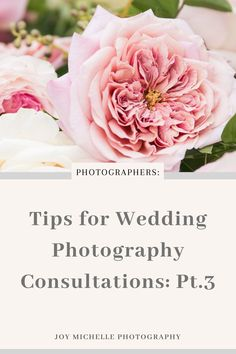 Today we're talking about how to run wedding consultations or meetings. A key part of being a photographer that can sometimes be overlooked is the client meeting. We focus so much on posting to Instagram, being consistent when we blog, SEO, and more, but what about the consultation? How do you book more of them? That's what this series is about. #joymichellephotography #education #weddingphotographyconsultations #photobosses Photography Pricing, Wedding Photography Tips, Photography Marketing, Photography Tips For Beginners, Free Photography, Photography Branding, Photography Business, Photography Tutorials, Wedding Photographer Checklist