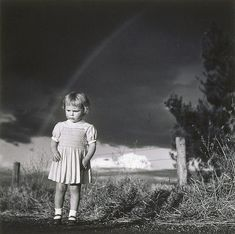 An image of Little girl in a thunderstorm by Max Dupain