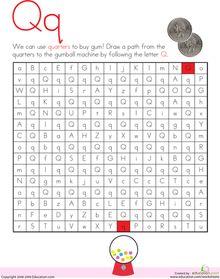 Letter Maze: Q