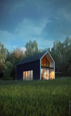Forest house concept by Denis Luganskiy, via Behance