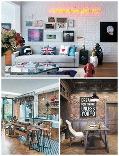 decoração industrial Decor, House Styles, House Design, Interior Design, Home Deco, Interior, Loft House, Home Decor, New Homes