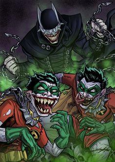 The Batman Who Laughs by Juanjo Lopez Batman Y Superman, Batman Dark, Batman The Dark Knight, Batman Joker Wallpaper, Batman Artwork, Dc Comics Vs Marvel, Arte Dc Comics, Dark Knights Metal, Batman Metal