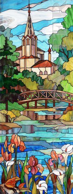 arts-master.ru vitrail | ... | Diseños de vidrieras, Art nouveau y Paneles de vidrios de colores