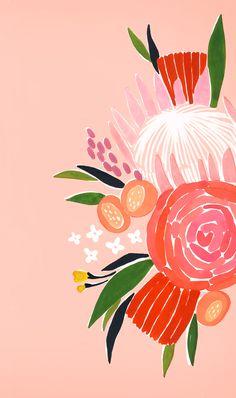 FREE Desktop & Phone Wallpaper // Lisa Rupp // A Valentine's Day inspired floral desktop wallpaper for Februrary!