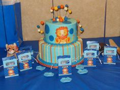 #Lion Baby Shower Themed Cake