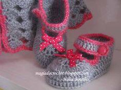 Magia do Crochet: Casacos em crochet para bebé - o modelo mais popular do blogue