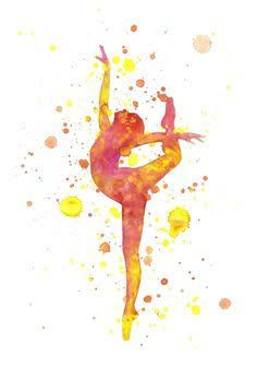 Image result for watercolour gymnast