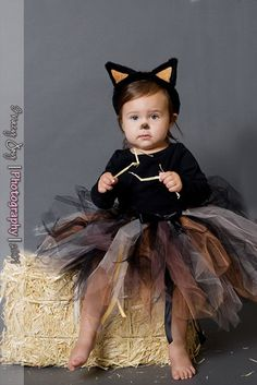 Shabby Kitty Cat Tutu Halloween Costume custom made 1 2 3 4 Years Tabby Cat on Etsy, $28.00
