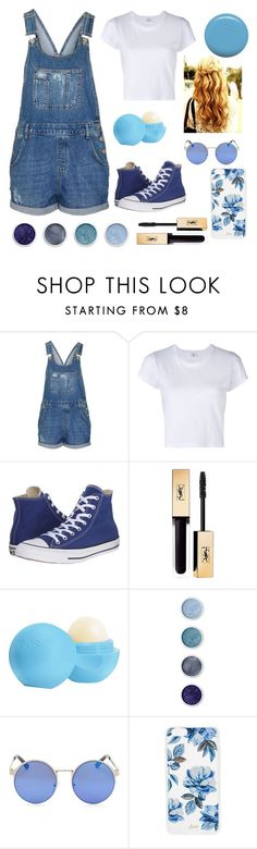 """Blue"" by xoxodalya ❤ liked on Polyvore featuring Topshop, RE/DONE, Converse, Yves Saint Laurent, Eos, Terre Mère, Sonix and Jin Soon"