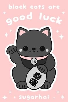 Black cats are good luck. An important message from sugarhai.