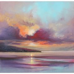 Hobbitholeco 'Cloudy Beach I' by Scott Naismith Gel Brush Finished Gallery-Wrapped Canvas Wall Art, Ready to Hang Landscape Art, Landscape Paintings, Landscapes, Painting & Drawing, Painting Prints, Seascape Paintings, Art Paintings, Painting Portraits, Amazing Art