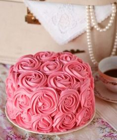 Amazing Rosette Wedding Cake