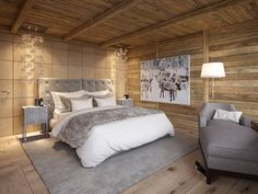 """Chalet """"Chesa Nimet"""" in St. Chalet Interior, Apartment Interior Design, Condo Decorating, Wooden House, Bedroom Styles, Sweet Home, House Design, Behance, Home Decor"""
