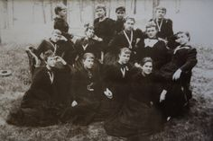 An all-girls High School, Mount de Sales Academy, Catonsville, Maryland. Pictured: the Class of c.1892.