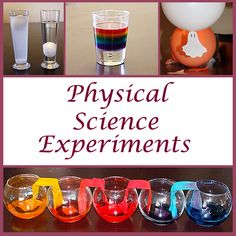 Physical Science Experiments for Kids 8th Grade Science, Preschool Science, Middle School Science, Elementary Science, Science Classroom, Teaching Science, Science Activities, Educational Activities, Science Projects For Kids