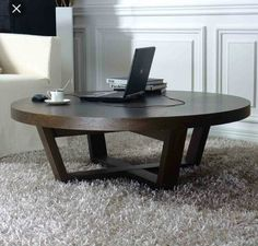 Round Wooden Coffee Table, Coffe Table, Dining Table, Wood Table Design, Table Designs, Coffee Table Styling, Design Furniture, Furniture Ideas, Elements Of Design