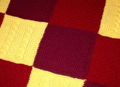 Patchwork Trio Afghan assembly