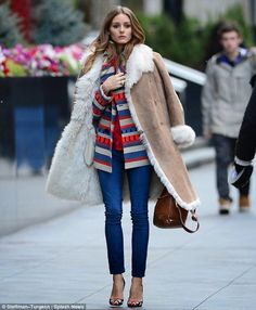 Street Style Fashion: Olivia Palermo in layered (top + jacket + coat) winter look. Fashion Mode, Look Fashion, Street Fashion, Fashion Finder, Fashion Tag, Fashion 2016, Latest Fashion, Fashion Ideas, Fashion Trends