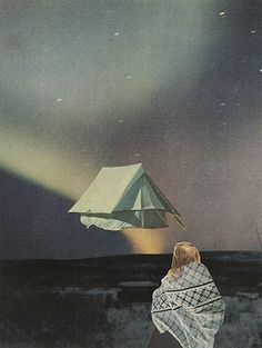 Tent | Magazine collage. © 2013. Shop | Tumblr | Sarah Eisenlohr | Flickr