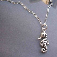 SEAHORSE! sterling silver necklace by perfect, $23.49