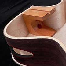 advanced acoustic guitar heel block design