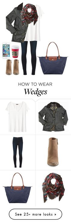 """READ D"" by brynnagrace24 on Polyvore featuring Dolce Vita, J Brand, H&M, Barbour, Buji Baja and Longchamp"