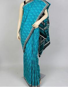 Hand Block Dabu Print Cotton Saree-676