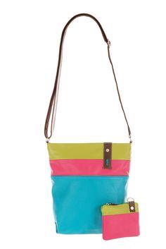 Frauentaschen :: DAILY :: D10 | ZWEI Taschen Handtasche :: bunt :: türkis :: vegan :: Sommer