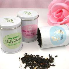 Mini Personalized Wedding Favor Tea Tins