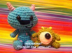 Amigurumi Monsters Inc : Mike wazowski monsters inc amigurumi crochet pattern amigurumi