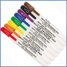 Iron-On Transfer Pens For Needle Felting!