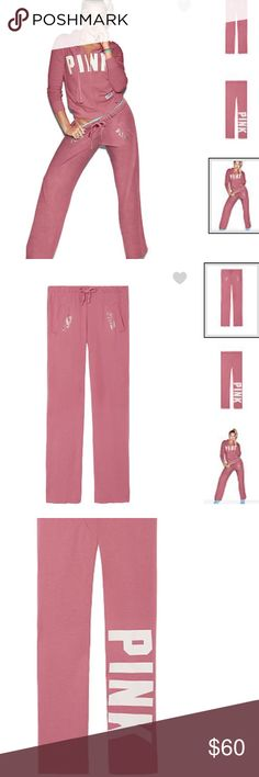 Pink VICTORIA SECRET BOYFRIEND PANTS ⭐️ New in the bag . ⭐it's a Autumn Rose color ✨price is firm PINK Victoria's Secret Pants Track Pants & Joggers