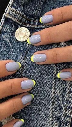 Minimalist Nails, Best Acrylic Nails, Summer Acrylic Nails, Best Nail Art, Summer Nails, Popular Nail Art, Basic Nails, Simple Nails, Short Gel Nails