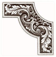 Лиственный орнамент 3d Cnc, Metal Embossing, Metal Engraving, Ornaments Design, Custom Fonts, Corner Designs, Architectural Elements, Shape Design, Graphic Illustration