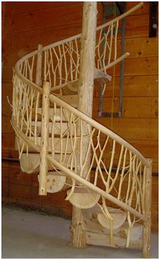 Future forest dream home natural spiral staircase inspiration. Mancave