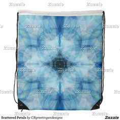 Scattered Petals Drawstring Backpack