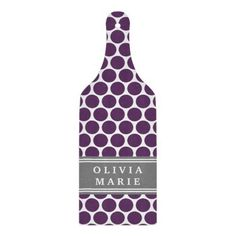 Personalized Name Purple Polka Dots Pattern