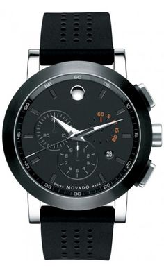 Museum Mens Black PVD Stainless Steel Chronograph by @MOVADO