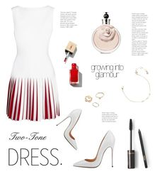"""""""Growing Into Glamour: Two-Tone Dress"""" by almafainer on Polyvore featuring Alaïa, Chloe + Isabel and GUESS"""