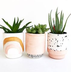 Handmade Ceramic Planters | LunaReece on Etsy