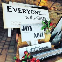 Everyone to the bar!! Perfect for any occasion or season. 🍷 . . . . . #wedding #engaged #signs #photographer #create #rustic #weddingideas #weddinginspiration #weddingsigns #instapicoftheday #bride #groom #love #gifts #personalised #calligraphy #print #etsy #etsyseller #im&er #woodworking #kent #christmas #fair #handmade #etsygift #followers
