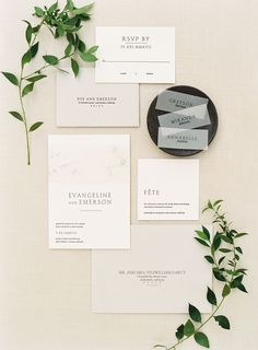 Contemporary wedding invitation stationery: Photography: Lynette Boyle - http://www.lynetteboylephotography.com/