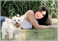 Beauty With Dog
